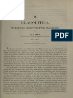 V. Jagić. Glagolitica. Würdigung Neuentdeckter Fragmente