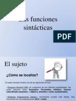 Las Funciones Sintácticas