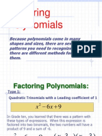 Factoring Different Polynomials