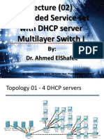 cisco - Extended Service set with DHCP serverMultilayer Switch