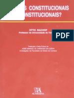 BACHOF, Otto - Normas Constitucionais Inconstitucionais