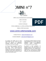 Revista OMNI nº7 Revista de Numismática, numismatique