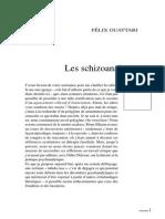 Psychanalyse - Guattari 19840621 Les schizoanalyses (Chimères n° 1)