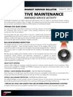 5 Year Recommended Gearbox Maintenance Service Bulletin