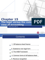 IFRS Chapter 15 the Legal Versus the Commercial View of Accounting