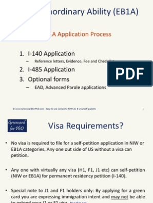 EB1A Application Process | Permanent Residence (United States