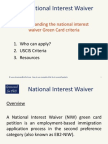 Understanding the National Interest Waiver Green Card