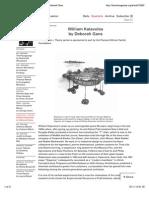 BOMB Magazine — William Katavolos by Deborah Gans