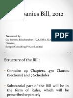 Companies Bill, 2012 Presentation From Sympro Consulting Pvt. Ltd.