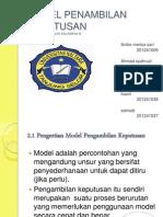 power point Model Pengambilan Keputusan