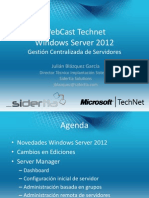Webcast Windows Server 2012 Gestion Centralizada de Servidores 16-11-14
