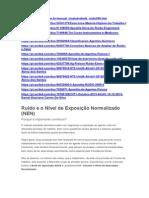 Ruído e o Nível de Exposição Normalizado