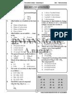 Halogen Derivetives of Alkane MCQ
