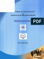 "Recruitment and Selection Process"" by SHAHJALAL ISLAMI BANK LIMITED"