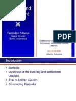 Clearing and Settlement - Tarmiden Sitorus Presentation.ppt