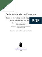 Triple Vie de l'Homme-Jacob Boehm