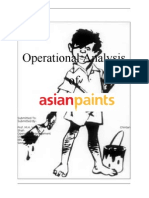 Operational Analysis of Asian Paints