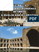 Extracts from Correspondence between A Muslim and A Christian