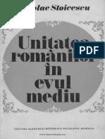 Stoicescu Unitatea Romanilor in Evul Mediu