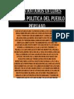 Nos Levantamos Un Lunes Historia Politica Del Pueblo