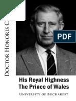 Brosura DHC Printul de Wales