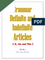 Grammar Definite and Indefinite Articles