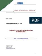 Experto en Psicología Clínica y Psicoterapia.tema Xi.psicoterapia Breve