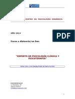 Experto en Psicología Clínica y Psicoterapia.tema Viii.alimentación