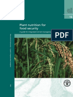 Plant Nutrition for Food Security