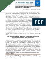 MODELO TRIPLE HELIX COMO ESTRATÉGIA DE GESTÃO DE CUSTOS EM INOVAÇÃO EM REDES DE MPE´S