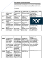 student centered digital portfolio rubric-stevenson