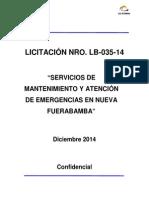 LB-035-14 Mantenimiento y Atenciu00F3n de Emergencias en N Ueva Fuerabamb