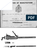 description of Manufacture and Misc. Drawings browning 1919 machinegun