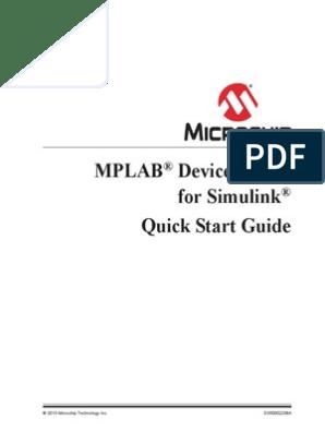 MPLAB_Blockset_Simulink | Microcontroller | Matlab