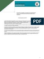 Boletín de Indicadores Económicos 2013