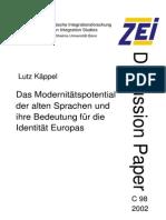 Lenguas Clásicas. Europa. Identidad - KÄPPEL, L. (2002)