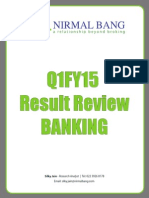 Q1 - 2015 Result Review Banking