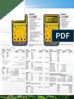 UEi Test Instruments - Multimeters DataSheet