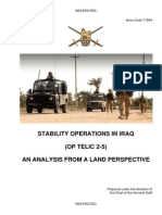 Uk Stbility Operations in Iraq 2006