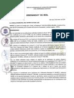 Ordenanza 165 2014 MDSL