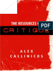 The Resources of Critique by Alex Callinicos