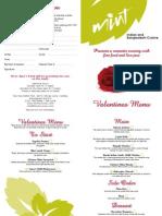 Valentines Menu 10
