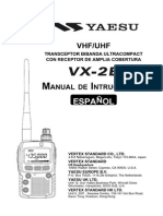 yaesu VX 2E Spanish