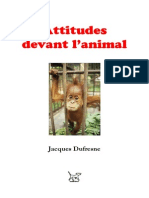 Dufresne, Jacques | Les attitudes devant l'animal