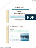 CE201 Statics Chap6