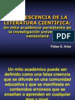 Obsolescencia de La Literatura Científica Fidias g. Arias
