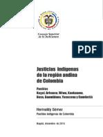 Justicias Indígenas de la región andina de Colombia