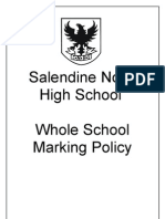 Salendine Nook High School Whole School Marking