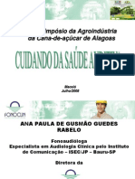CUIDANDO DA SAÚDE AUDITIVA - Ana Paula de Gusmão Guedes Rabelo - FONOCLIN.ppt