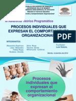 N°1 PROCESOS INDIVIDUALES QUE EXPRESAN EL COMPORTAMIENTO ORGANIZACIONAL